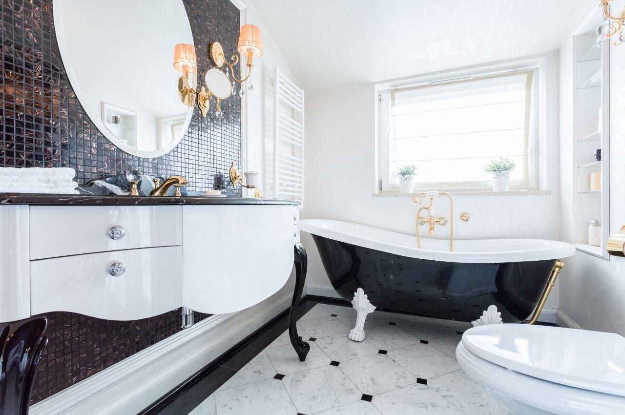 elegant custom bathroom